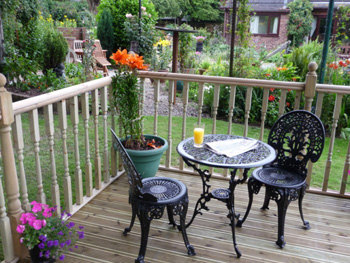 3.0m x 3.0m Easy Deck Patio Kit (With Handrails)