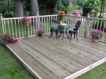 4.8m x 4.8m Easy Deck Patio Kit (With Handrails)