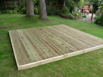 3.0m x 2.4m Easy Deck Patio Kit (No Handrails)
