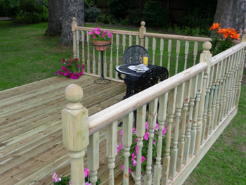 3.0m x 2.4m Easy Deck Patio Kit (With Handrails)