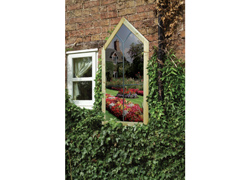 WEATHERED Garden Mirror Gothic Window (1200mm x 600mm)