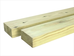 Green - Treated Planed Square Edge Timber (100mm x 50mm)