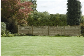 Horizontal Lattice Top Fence Panel (1.8m x 1.2m)