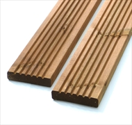 Brown - Standard Redwood Decking (120mm x 28mm)