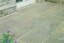 Calibrated 22mm Indian Stone Paving Raj Green (Sold Per m2)