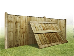 Heavy Duty Vertilap Featheredge Fence Panel (6ft x 4ft)