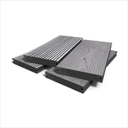 RealGroove™ Bark Effect Grey Solid Composite Decking (146mm x 22mm - 2400mm)