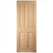 Pre-Finished White Oak Engineered Colonial 4 Panel Door
