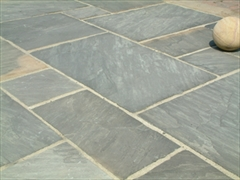 Calibrated 22mm Indian Stone Paving Kota Black (Sold Per m2)