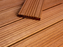 Smooth / Castle Top Hardwood RED Balau Decking (145mm x 21mm)
