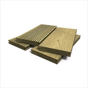 Teak Bark Effect Solid Composite Decking (146mm x 21mm - 3.6m)