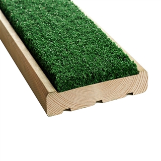 Anti Slip Artificial Grass Decking Board Samples