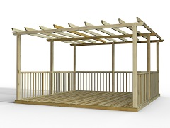 Discount Decking Kits With Pergolas