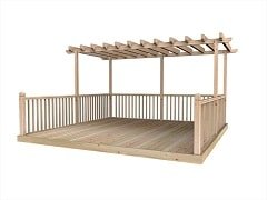 Decking Kits With Pergolas