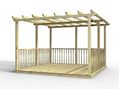 Standard Decking Kits With Pergolas
