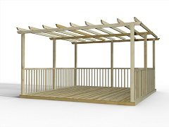 Discount Decking Kits Including Pergolas