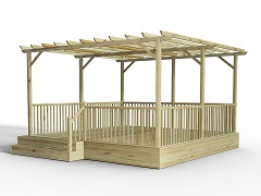 Decking Kits Including Pergolas