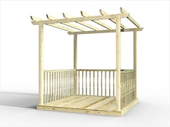 Standard Deck Kits With Pergolas