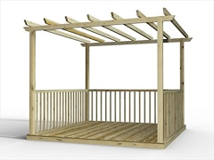 Discount Deck Kits With Pergolas