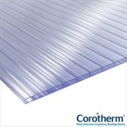 Clear 10mm Twinwall Polycarbonate Sheets