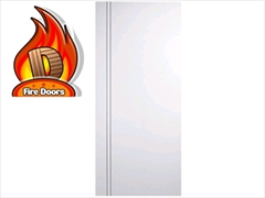 Solid White Fire Doors