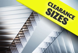 Polycarbonate Sheets - Clearance Sizes