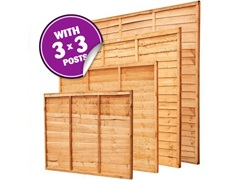 "Panel Packs With 3"" Posts"