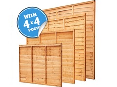 "Panel Packs With 4"" Posts"