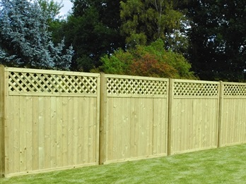 Tongue & Groove Lattice Top Fence Panels